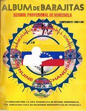 1980-81 UNCATALOGUED VENEZUELAN BASEBALL LEAGUE STICKER ALBUM