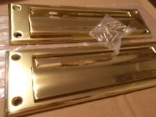 SCHLAGE IVES MAILBOX Letter Door Slot SOLID BRASS Front Spring loaded & Back Set