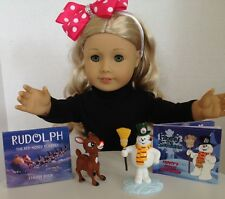 "Christmas Mini Book SETS for American Girl Doll 18"" Accessories Rudolph Frosty"