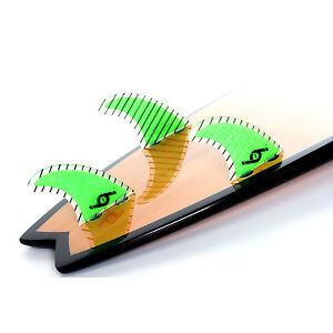 Surfboard Fins Hot Surf 69 Carbon/Honeycomb FCS Surfboard Thruster set of 3 M5
