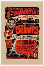 The Cramps at The Show Box with Guitar Wolf Concert Poster 1997 12x18