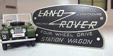 Toylander Land Rover Série 1/2 échelle gravé Solihull Station Wagon Tub badge