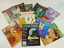 Lot of 11 Lapidary Journal Magazines Gems Jewelry Arts Mineral More 1994/95 2002