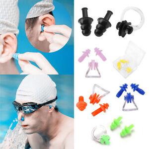 Swimming Set Nose Clip + Ear Plug Silicone with HARD CASE Pool Sea Swim Sports
