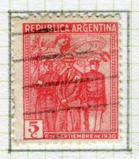ARGENTINA;  1930 September Revolution issue fine used 5c. value