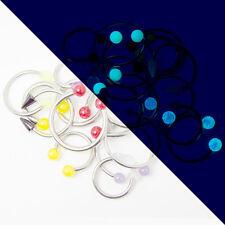Circular Barbell Body Jewelry 20pc Acrylic Tops Randomly Picked