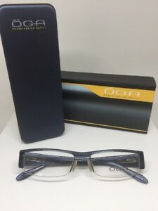 New OGA 63570 Eyeglasses Rx Frames C. BN018 Navy Size: 53-17mm Made in France