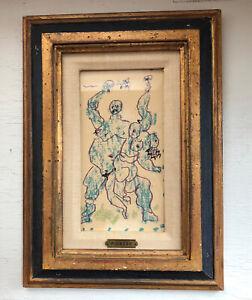 Pablo Picasso - La Petite Bacchanale - Mourlot Lithograph - Antigue Wood Frame