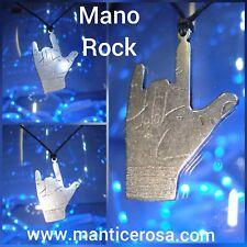 Collana Necklace Ciondolo Mano Rock - produzione artigianale