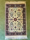 Vintage Hand-knotted Northern India, Oriental throw Rug 2' x 3'