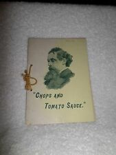 RARE 1880s+ Charles Dickens Chops Tomato Sauce English Recipes Reliable Sources