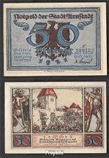 Arnstadt Notgeld: 43.3 a) Notgeld der Stadt Arnstadt, Bst.: r bankfrisch 1921 50