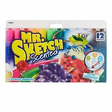 MR SKETCH SCENTED MARKERS 12 MIXED COLOURS PACK 12 PACK UK STOCK FAST SHIP