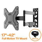 Full Motion Tilt Swivel LCD LED TV Monitor Wall Mount Bracket 17 32 37 39 40 42