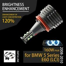 160W 7000K Wh H8 LED Angel Eyes Ring Marker Bulbs for BMW 2008-2010 5 Series E60