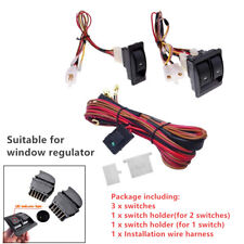 Car Automatic Electric Power Window Switch System&12V Wire Harness Kit Universal