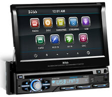 "BOSS Audio BV9979B Single-DIN DVD Player 7"" Motorized Touchscreen Detach Panel B"