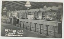 1940's-50's Bar Interior Pepper Pod Hudson Colorado postcard