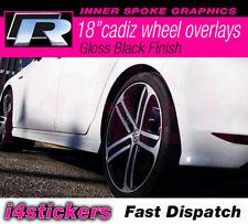 "VW Golf R Mk7 & 7.5 18"" Cadiz Wheel decal Graphic Logo stickers inserts OEM"