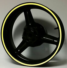 YELLOW REFLECTIVE WHEEL STRIPES RIM STICKERS TAPE DECALS APRILIA RSV MILLE 1000