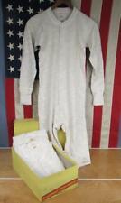 Vintage 1940s Healthknit Mens Cotton/Wool Union Suits 3 Nos w/Box Sz.40 Workwear