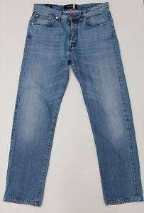 Kiton Napoli Blue Selvedge Denim Men's Jeans Sz 34 x 30