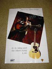 B.B.King Gibson acoustic guitar poster-1994