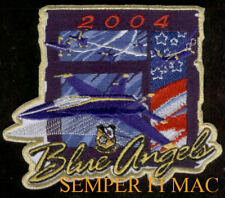 2004 US NAVY BLUE ANGELS HAT PATCH F-18 MARINES C130 PIN UP AIRSHOW WING PILOT