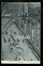 Royalty CORONATION Queen Elizabeth Procession in the MAll 1953 PPC
