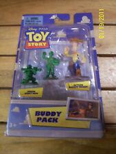 NIB Disney Toy Story Buddy Pack Green Army Men + Woody