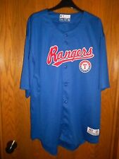 Texas Rangers True Fan Button Down Jersey Adult Size: XL  NWT