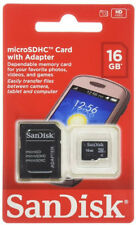 SanDisk Retail 16GB MICRO SD HC MicroSDHC Class 4 Flash Memory Card + SD Adapter