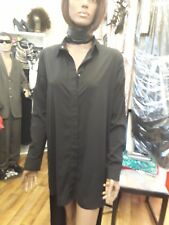 Ladies Lovely ( Short Front Long Back) Black Tyra Shirt by AQAQ Size 6