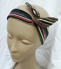 Bandeau cheveux headband femme velours à rayures