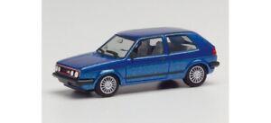 Herpa 430838 - 1/87 VW Golf II Gti Avec Jantes Sport, Métallique Bleu - Neuf