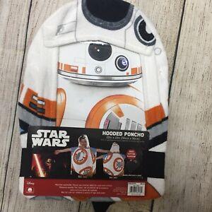"Disney's Star Wars Hooded Poncho Towel - BB8 22x22"" - New"