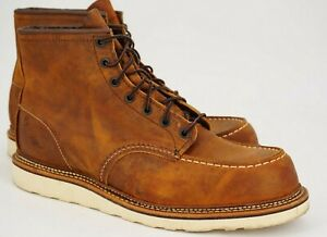 $289 | RED WING 12 D CLASSIC MOC TOE 6-INCH BOOT BROWN COPPER ROUGH & TOUGH