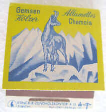 GEMSEN HÖLZER Allumettes Chamois -Fiammiferi, matchbox, caja de cerillas VINTAGE