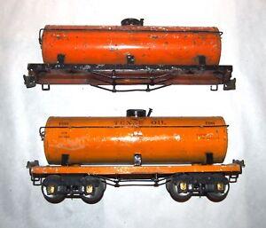 IVES Prewar Wide or Standard Gauge 190 Tankcars! Parts or Restore! PA