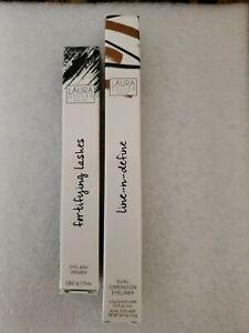 Laura Geller Line & Define Dual Dimen Eyeliner BLACK/GOLD & Black eyelash primer