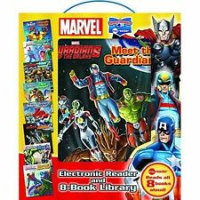 Marvel Electronic Reader and 8 Book Library