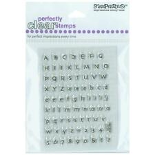 STAMPENDOUS RUBBER STAMPS CLEAR TINY ALPHABET NEW STAMP clear SET