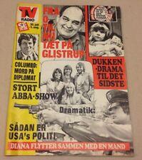"""ABBA Bjorn Benny Agnetha Anni-Frid Back Cover Danish Magazine 1976 """"Se og Hoer"""""""