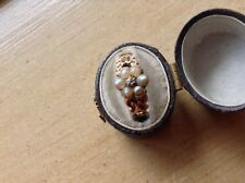Antique. Diamond.  &.  Pearl.  Mourning ring.  gold