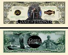 GAME of THRONES Billet MILLION DOLLAR US ! GOT Daeneris Marcheur Blanc Roi Nuit