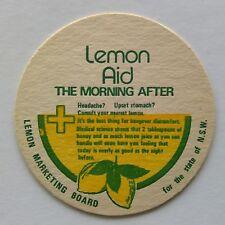 Lemon Aid The Morning After Lemon Marketing Board of NSW Coaster (B327-10)