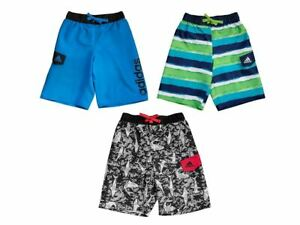 Adidas Boys Swim Trunks Board Shorts Size S M L XL