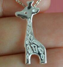 925 Sterling Silver Zoo Giraffe Charm - Animal Safari Giraffe Pendant ONLY