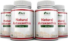 Astaxantina 12mg 180 Cápsulas blandas 6 meses tratamiento para nu u Nutrition