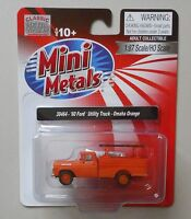 ORANGE 1960 FORD UTILITY CLASSIC METAL WORKS 1:87 Diecast MINI HO Scale 30464